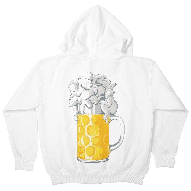 Ice Cold Bee(a)rs Kids Zip-Up Hoody by badbasilisk's Artist Shop