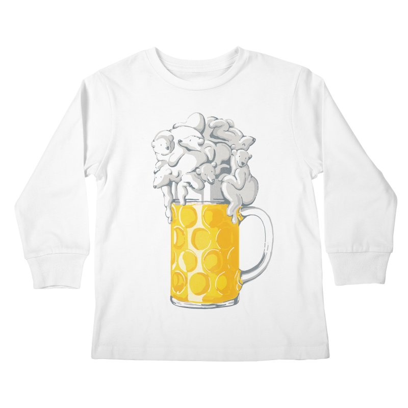 Ice Cold Bee(a)rs Kids Longsleeve T-Shirt by badbasilisk's Artist Shop