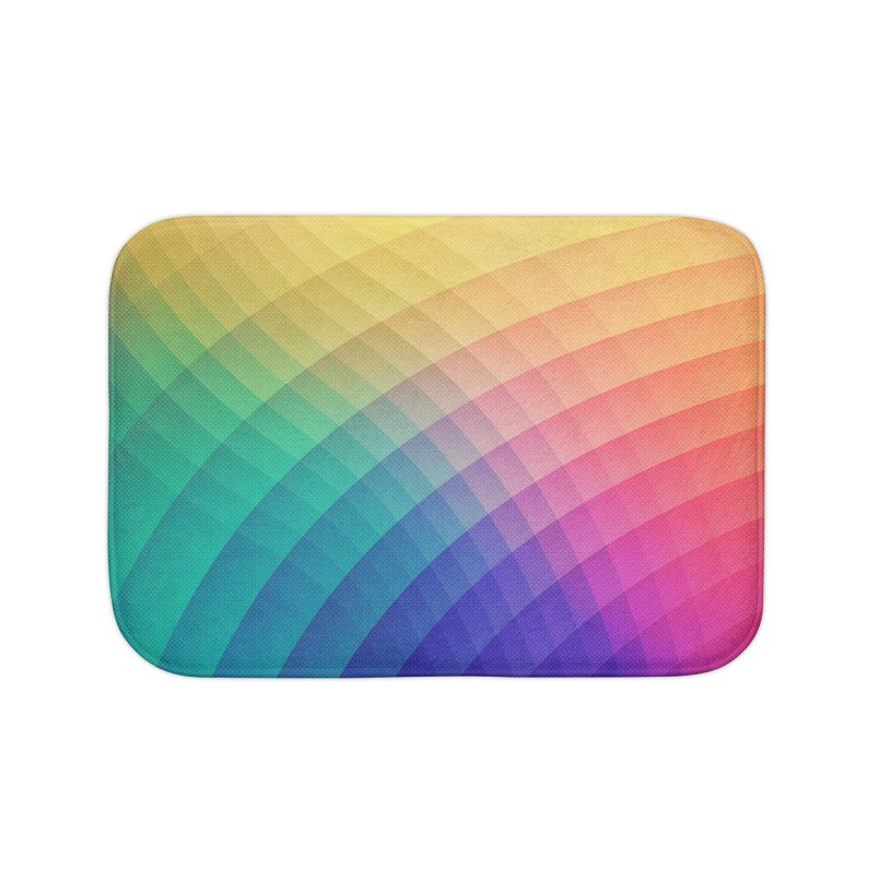 Spectrum Bomb! Fruity Fresh (HDR Rainbow Colorful Experimental Pattern) Home Bath Mat by Badbugs's Artist Shop