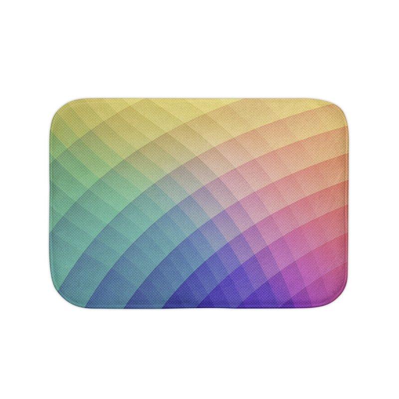 Spectrum Bomb! Fruity Fresh (HDR Rainbow Colorful Experimental Pattern) Home Bath Mat by Badbugs's Artist Shop