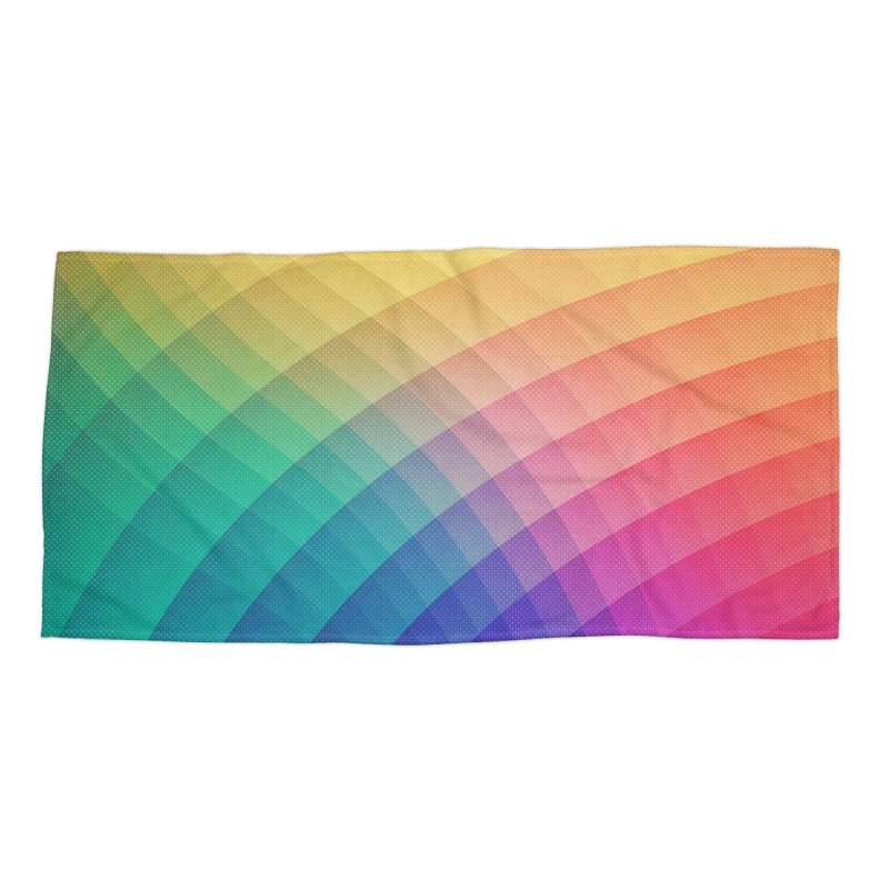 Spectrum Bomb! Fruity Fresh (HDR Rainbow Colorful Experimental Pattern) Accessories Beach Towel by Badbugs's Artist Shop
