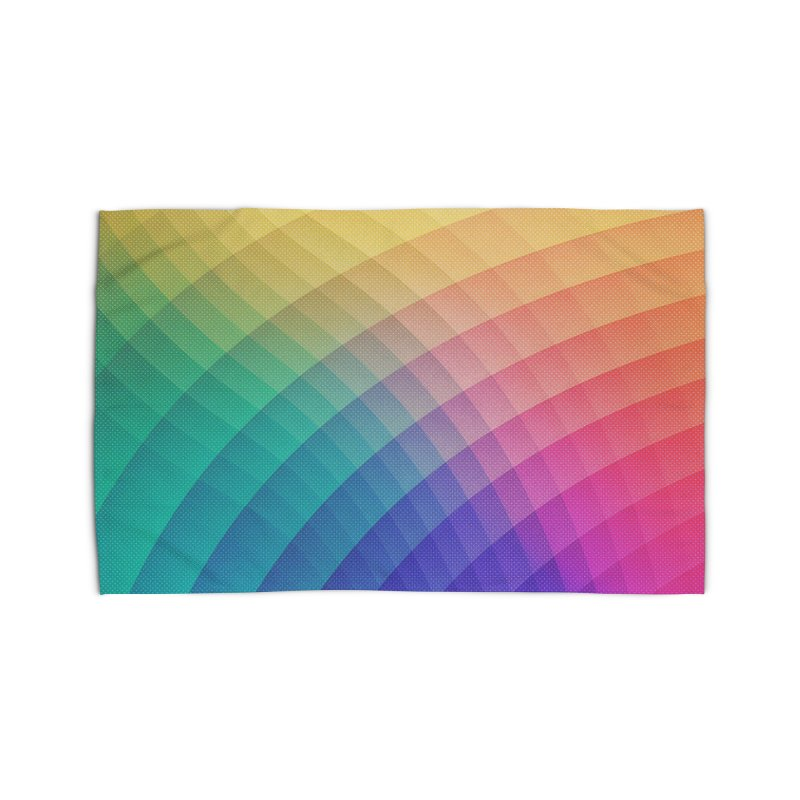 Spectrum Bomb! Fruity Fresh (HDR Rainbow Colorful Experimental Pattern) Home Rug by Badbugs's Artist Shop
