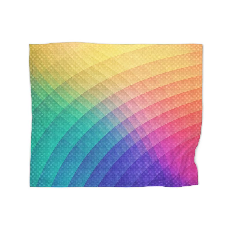 Spectrum Bomb! Fruity Fresh (HDR Rainbow Colorful Experimental Pattern) Home Blanket by Badbugs's Artist Shop