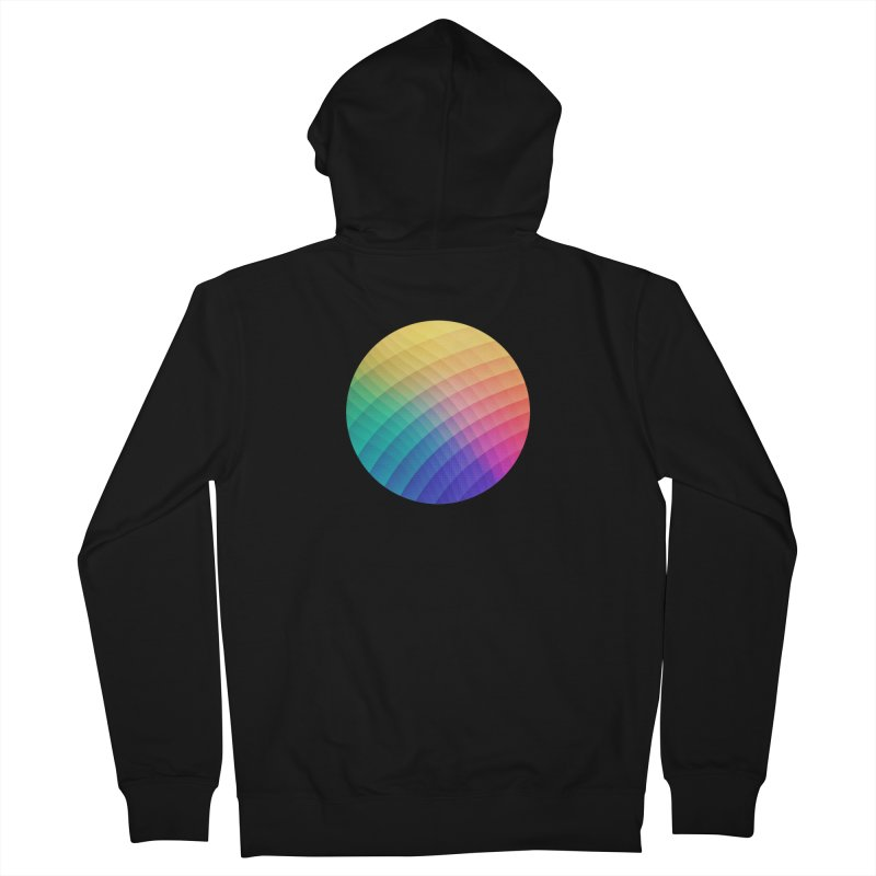 Spectrum Bomb! Fruity Fresh (HDR Rainbow Colorful Experimental Pattern) Men's Zip-Up Hoody by Badbugs's Artist Shop