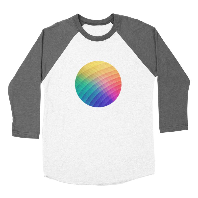 Spectrum Bomb! Fruity Fresh (HDR Rainbow Colorful Experimental Pattern) Women's Baseball Triblend T-Shirt by Badbugs's Artist Shop