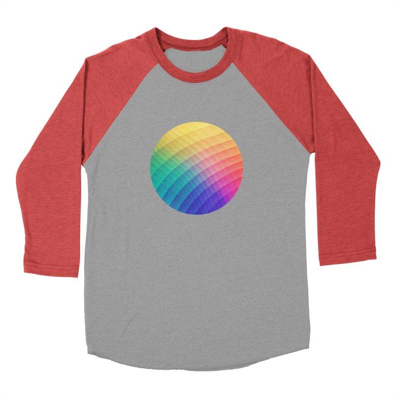 Spectrum Bomb! Fruity Fresh (HDR Rainbow Colorful Experimental Pattern) Men's Baseball Triblend T-Shirt by Badbugs's Artist Shop