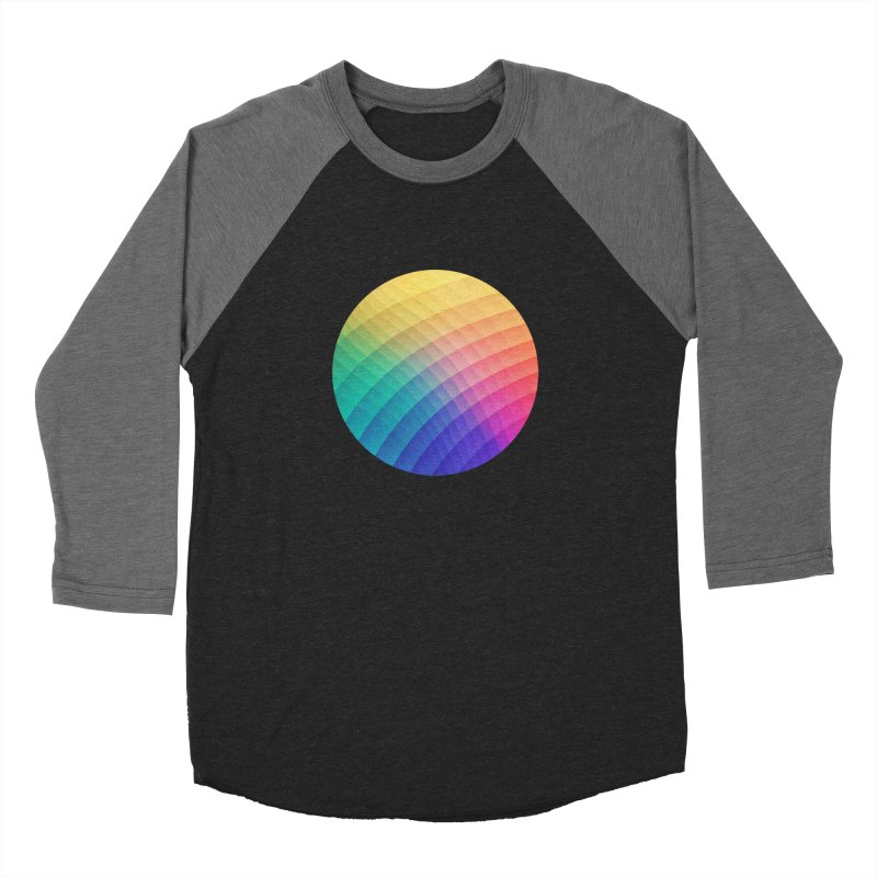 Spectrum Bomb! Fruity Fresh (HDR Rainbow Colorful Experimental Pattern) Men's Baseball Triblend T-Shirt by Badbugs's Artist Shop