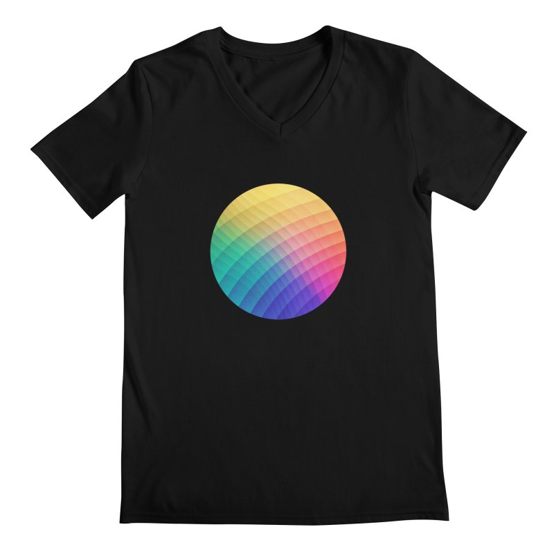 Spectrum Bomb! Fruity Fresh (HDR Rainbow Colorful Experimental Pattern) Men's V-Neck by Badbugs's Artist Shop