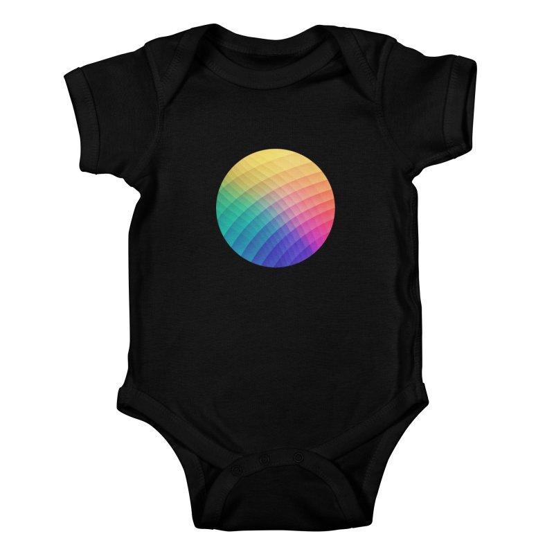 Spectrum Bomb! Fruity Fresh (HDR Rainbow Colorful Experimental Pattern) Kids Baby Bodysuit by Badbugs's Artist Shop