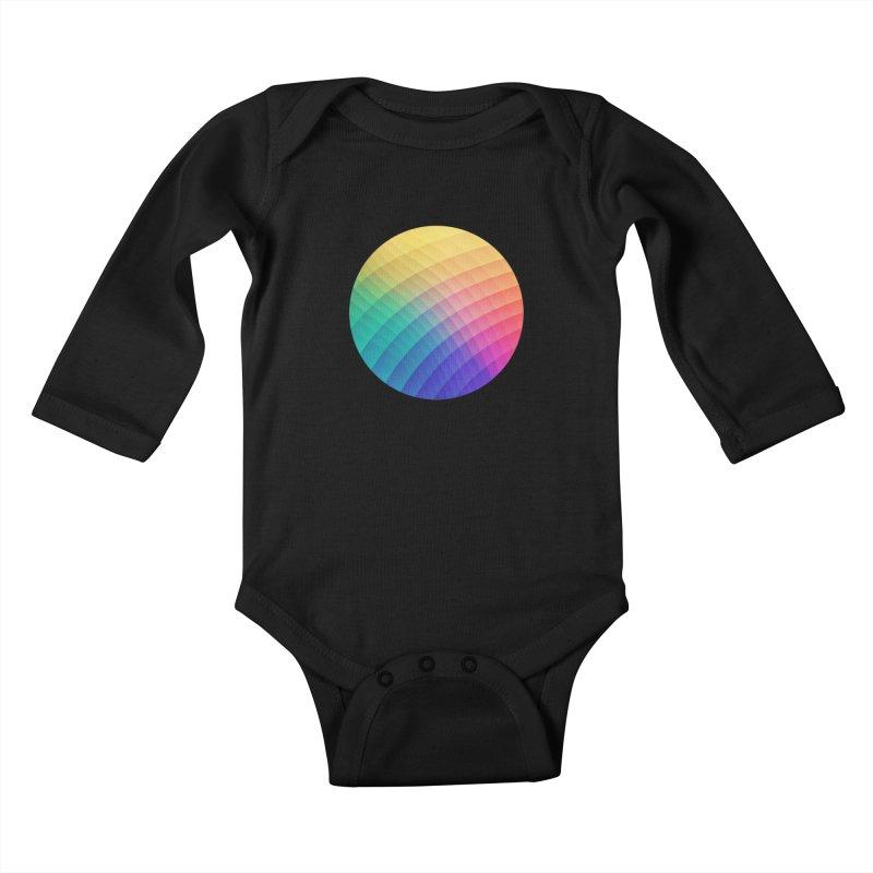 Spectrum Bomb! Fruity Fresh (HDR Rainbow Colorful Experimental Pattern) Kids Baby Longsleeve Bodysuit by Badbugs's Artist Shop