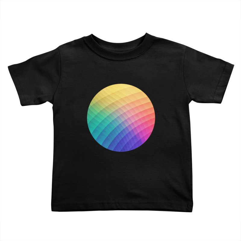 Spectrum Bomb! Fruity Fresh (HDR Rainbow Colorful Experimental Pattern) Kids Toddler T-Shirt by Badbugs's Artist Shop