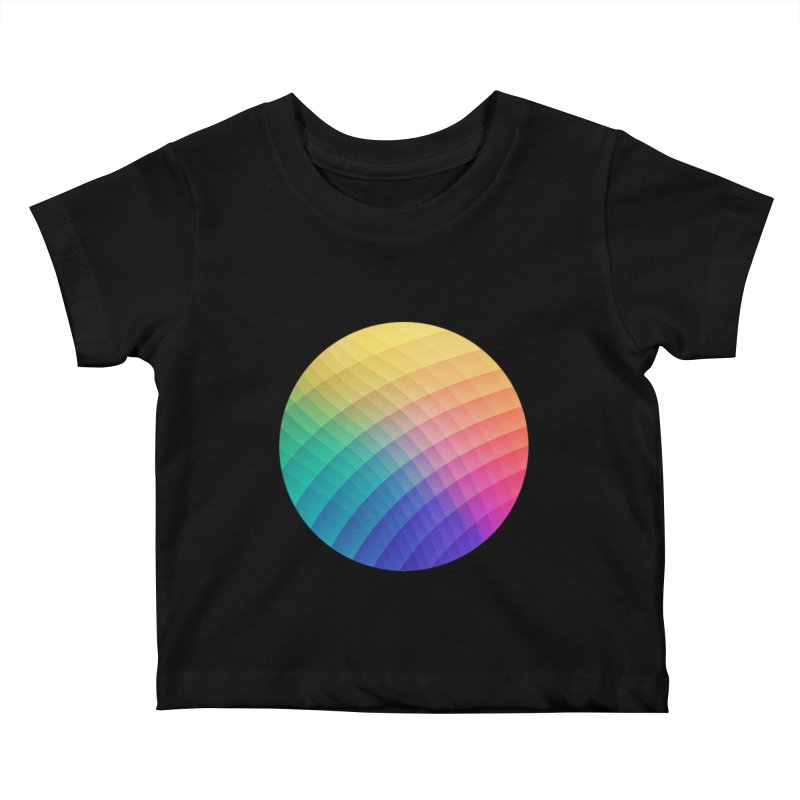 Spectrum Bomb! Fruity Fresh (HDR Rainbow Colorful Experimental Pattern) Kids Baby T-Shirt by Badbugs's Artist Shop