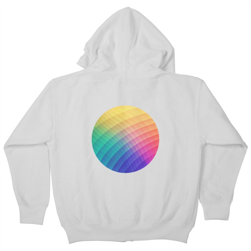 Spectrum Bomb! Fruity Fresh (HDR Rainbow Colorful Experimental Pattern) Kids Zip-Up Hoody by Badbugs's Artist Shop