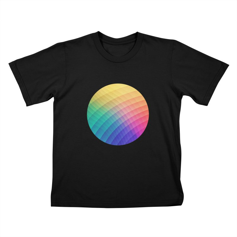 Spectrum Bomb! Fruity Fresh (HDR Rainbow Colorful Experimental Pattern) Kids T-Shirt by Badbugs's Artist Shop