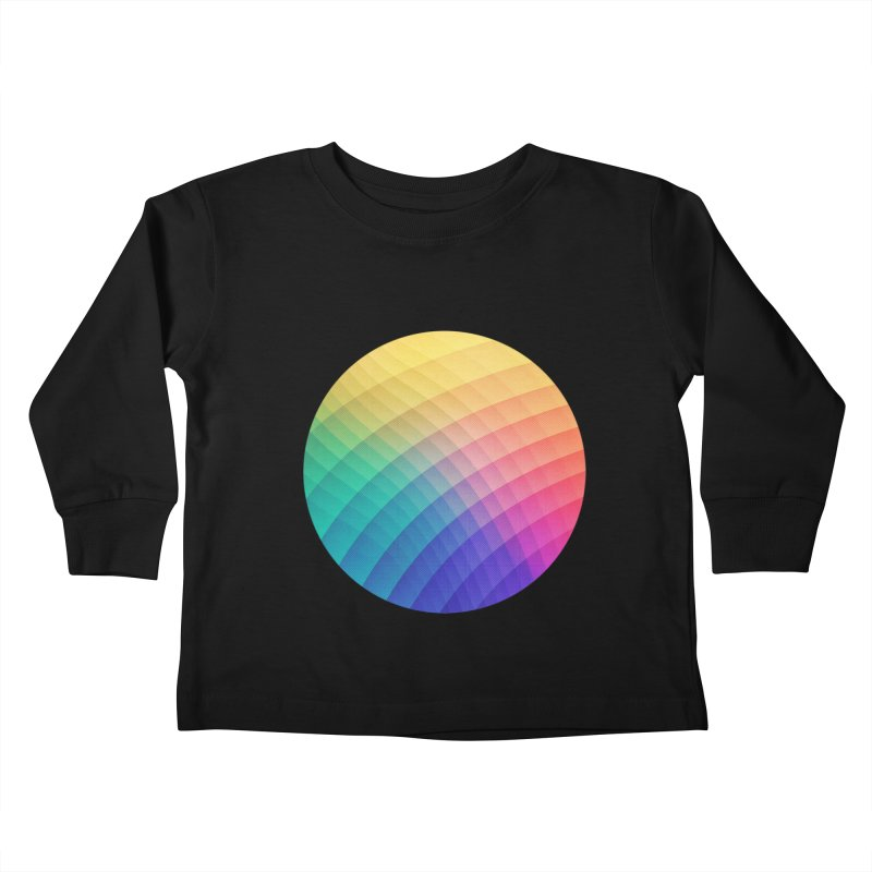 Spectrum Bomb! Fruity Fresh (HDR Rainbow Colorful Experimental Pattern) Kids Toddler Longsleeve T-Shirt by Badbugs's Artist Shop