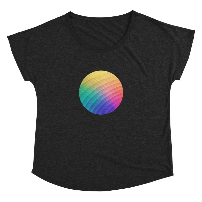 Spectrum Bomb! Fruity Fresh (HDR Rainbow Colorful Experimental Pattern) Women's Dolman by Badbugs's Artist Shop