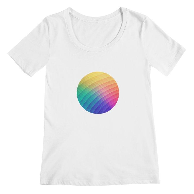 Spectrum Bomb! Fruity Fresh (HDR Rainbow Colorful Experimental Pattern) Women's Scoopneck by Badbugs's Artist Shop