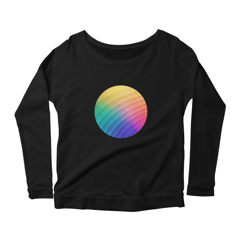 Spectrum Bomb! Fruity Fresh (HDR Rainbow Colorful Experimental Pattern) Women's Longsleeve Scoopneck  by Badbugs's Artist Shop