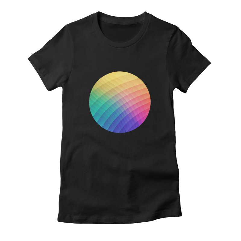 Spectrum Bomb! Fruity Fresh (HDR Rainbow Colorful Experimental Pattern) Women's Fitted T-Shirt by Badbugs's Artist Shop
