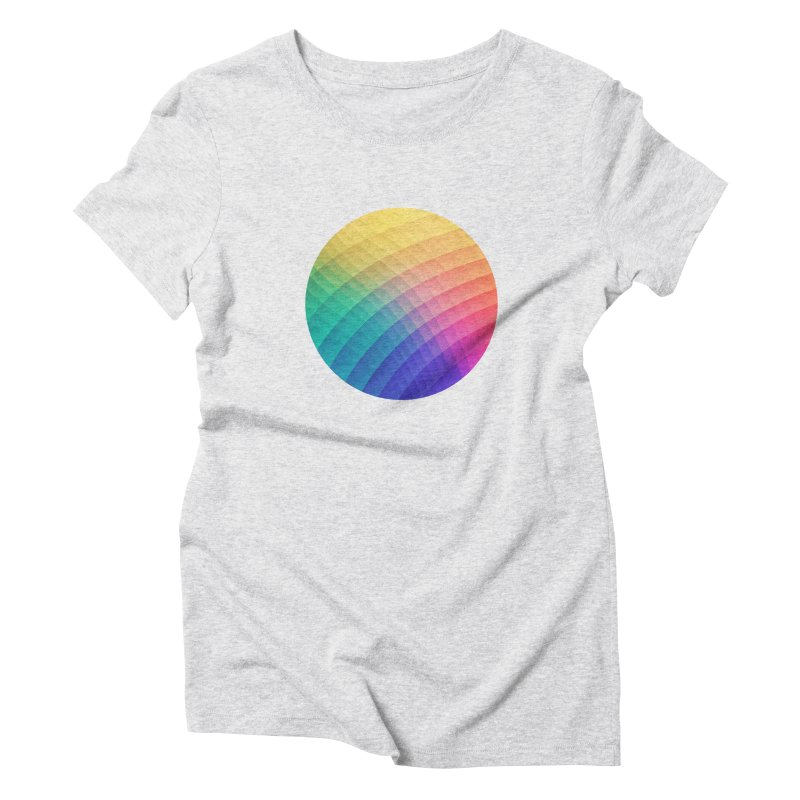 Spectrum Bomb! Fruity Fresh (HDR Rainbow Colorful Experimental Pattern) Women's Triblend T-Shirt by Badbugs's Artist Shop