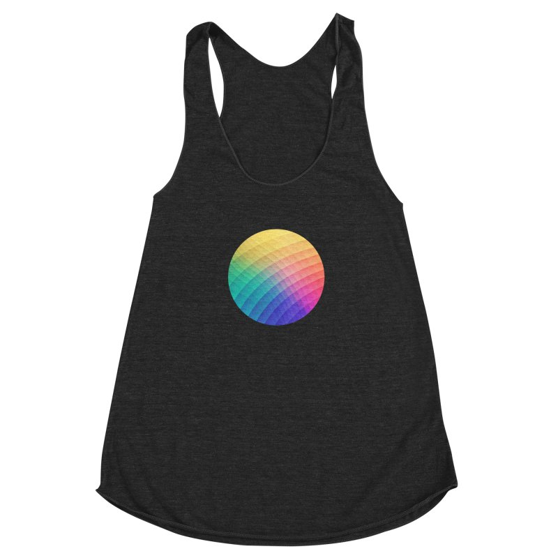 Spectrum Bomb! Fruity Fresh (HDR Rainbow Colorful Experimental Pattern) Women's Racerback Triblend Tank by Badbugs's Artist Shop
