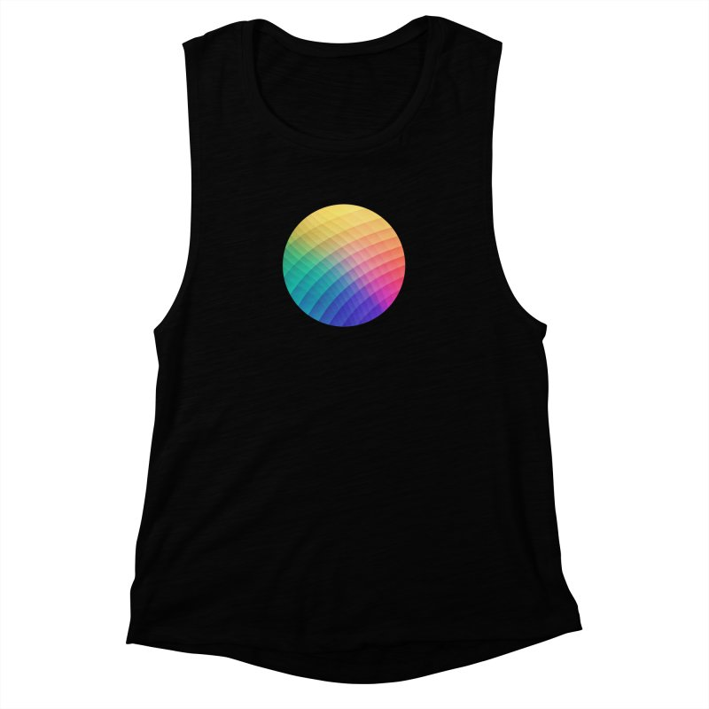 Spectrum Bomb! Fruity Fresh (HDR Rainbow Colorful Experimental Pattern) Women's Muscle Tank by Badbugs's Artist Shop