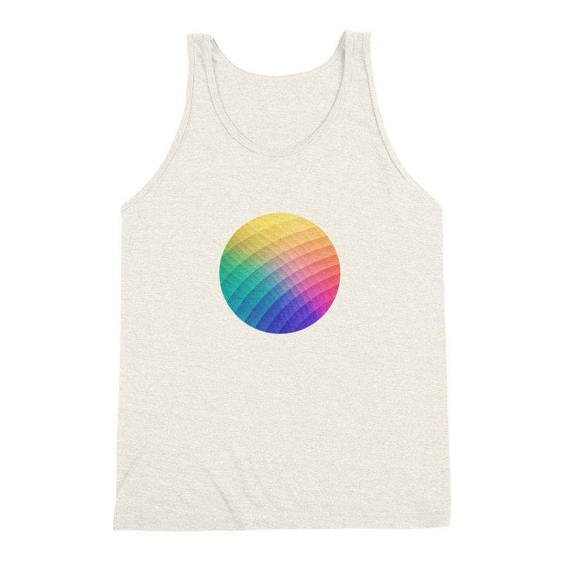 Spectrum Bomb! Fruity Fresh (HDR Rainbow Colorful Experimental Pattern) Men's Triblend Tank by Badbugs's Artist Shop