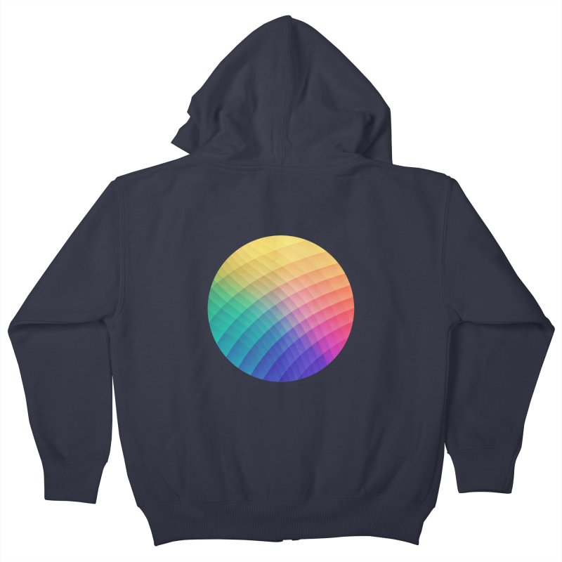 Spectrum Bomb! Fruity Fresh (HDR Rainbow Colorful Experimental Pattern) Kids Zip-Up Hoody by Badbugs's Artist Shop