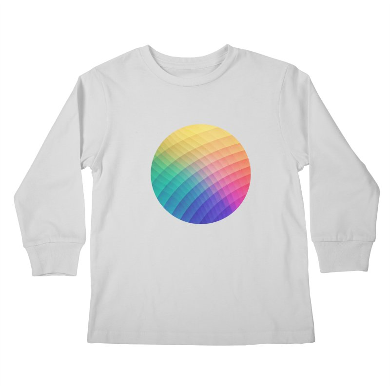 Spectrum Bomb! Fruity Fresh (HDR Rainbow Colorful Experimental Pattern) Kids Longsleeve T-Shirt by Badbugs's Artist Shop