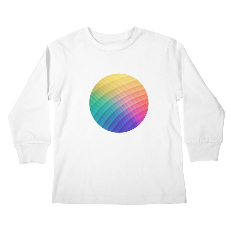 Spectrum Bomb! Fruity Fresh (HDR Rainbow Colorful Experimental Pattern) Kids Longsleeve T-Shirt by Badbugs's Artist Shop