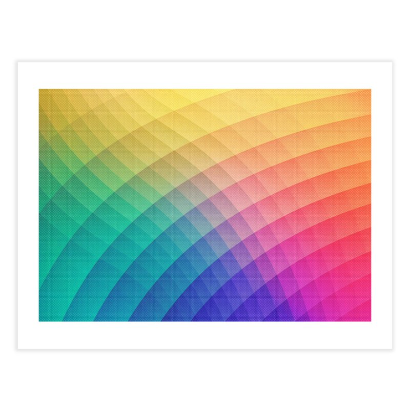 Spectrum Bomb! Fruity Fresh (HDR Rainbow Colorful Experimental Pattern) Home Fine Art Print by Badbugs's Artist Shop