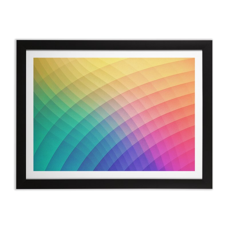 Spectrum Bomb! Fruity Fresh (HDR Rainbow Colorful Experimental Pattern) Home Framed Fine Art Print by Badbugs's Artist Shop