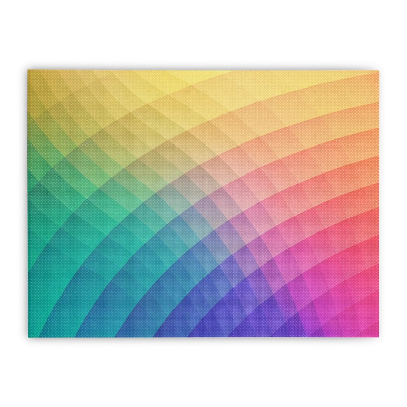 Spectrum Bomb! Fruity Fresh (HDR Rainbow Colorful Experimental Pattern) Home Stretched Canvas by Badbugs's Artist Shop