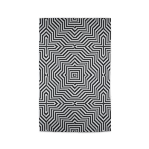 image for Minimal Geometrical Optical Illusion Style Pattern in Black & White T-Shirt