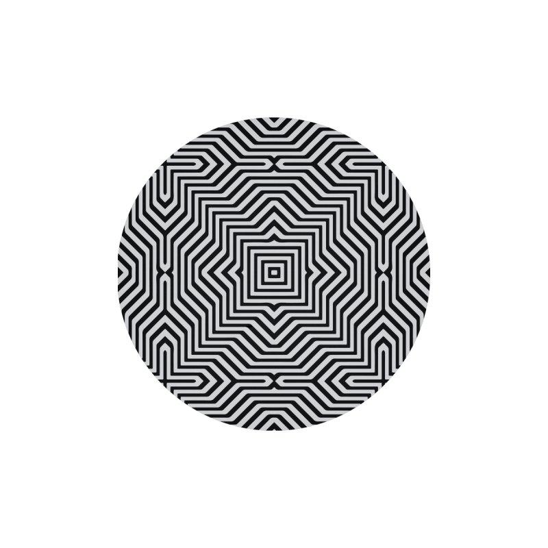 Minimal Geometrical Optical Illusion Style Pattern in Black & White T-Shirt by Badbugs's Artist Shop