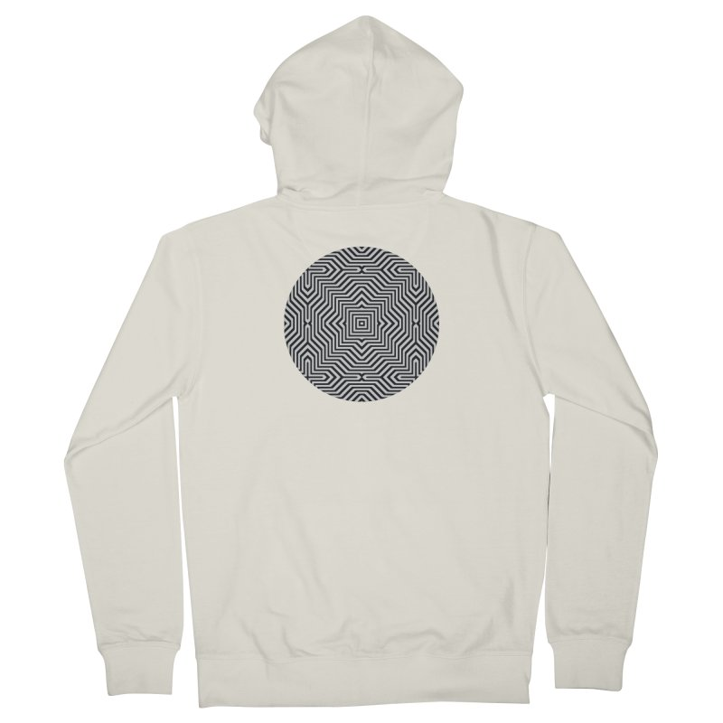 Minimal Geometrical Optical Illusion Style Pattern in Black & White T-Shirt Men's  by Badbugs's Artist Shop