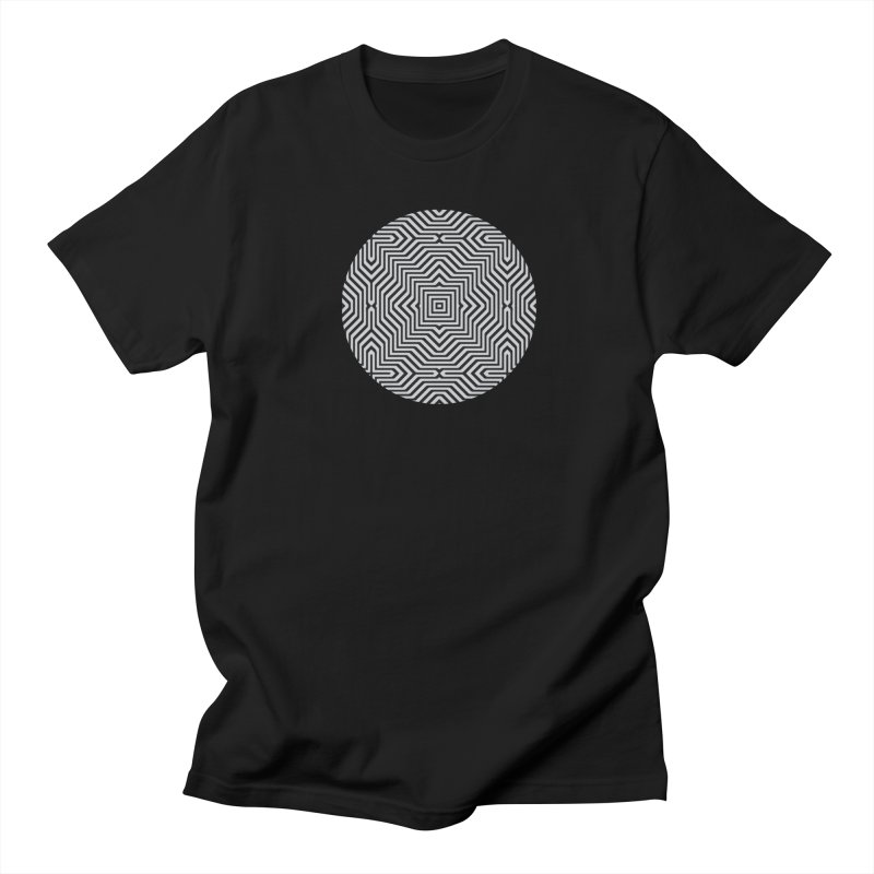 Minimal Geometrical Optical Illusion Style Pattern in Black & White T-Shirt Women's Unisex T-Shirt by Badbugs's Artist Shop