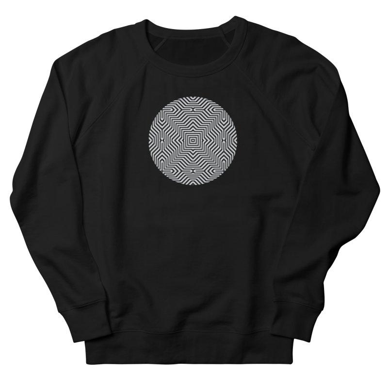 Minimal Geometrical Optical Illusion Style Pattern in Black & White T-Shirt Women's Sweatshirt by Badbugs's Artist Shop