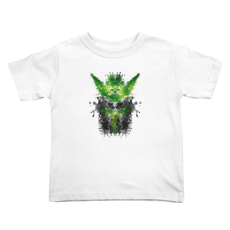 Rorschach Yoda Kids Toddler T-Shirt by Badbugs's Artist Shop
