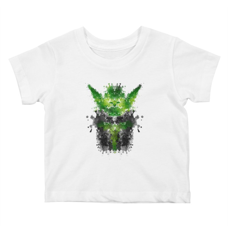 Rorschach Yoda Kids Baby T-Shirt by Badbugs's Artist Shop