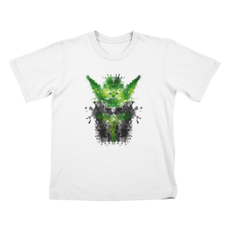 Rorschach Yoda Kids T-shirt by Badbugs's Artist Shop