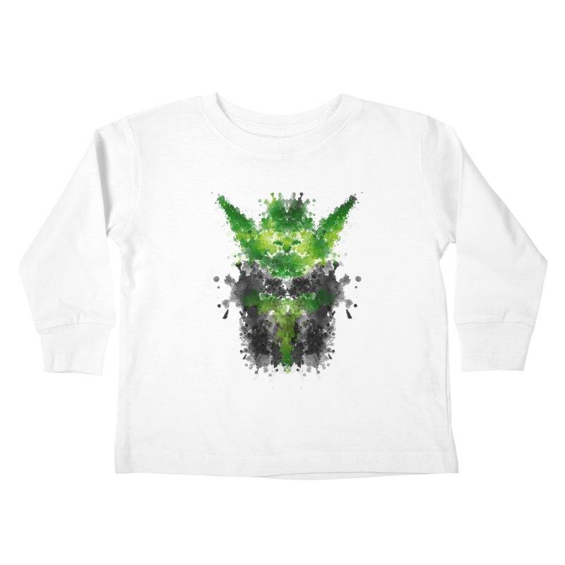 Rorschach Yoda Kids Toddler Longsleeve T-Shirt by Badbugs's Artist Shop