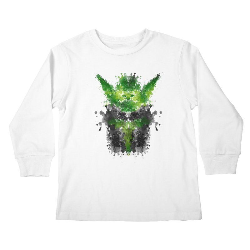 Rorschach Yoda Kids Longsleeve T-Shirt by Badbugs's Artist Shop