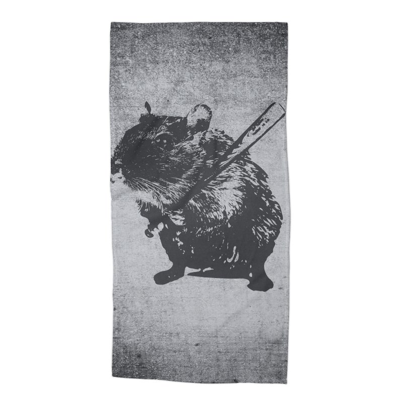 Angry Street Art Mouse Accessories Beach Towel by Badbugs's Artist Shop
