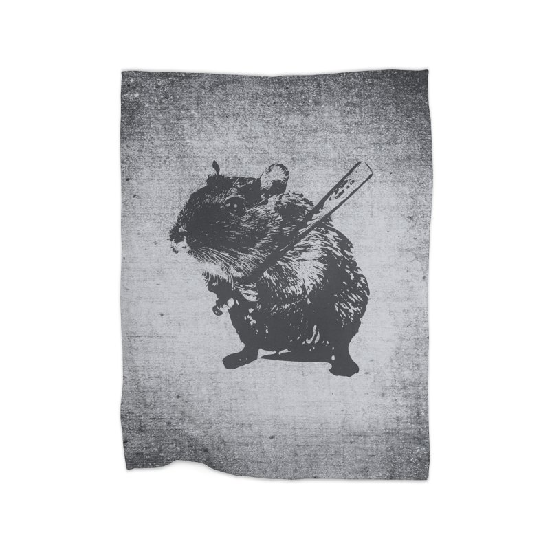 Angry Street Art Mouse Home Blanket by Badbugs's Artist Shop