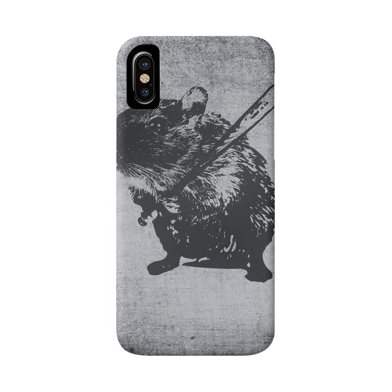 Angry Street Art Mouse Accessories Phone Case by Badbugs's Artist Shop