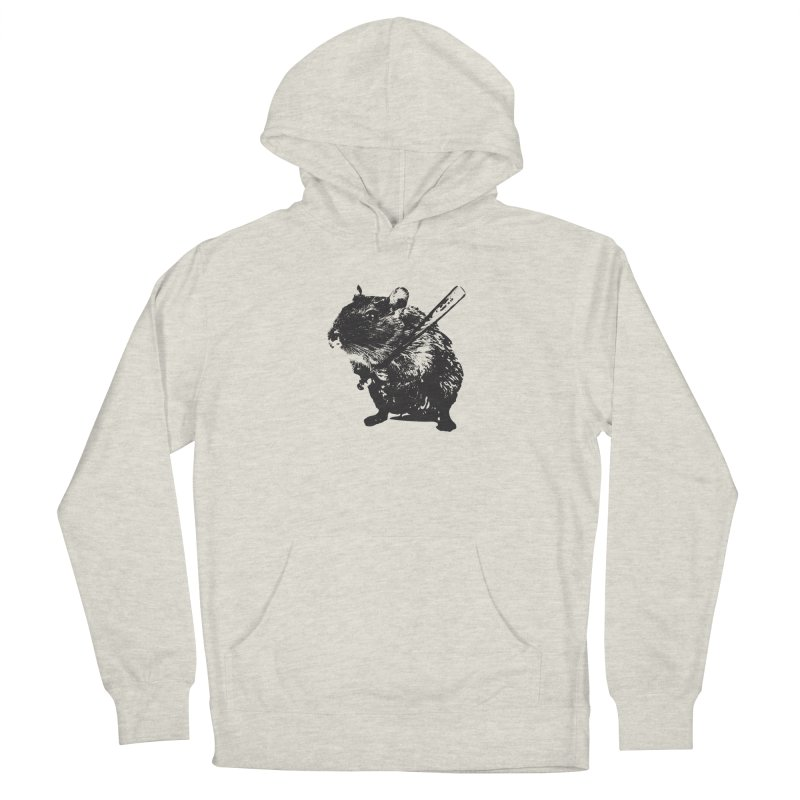 Angry Street Art Mouse Men's Pullover Hoody by Badbugs's Artist Shop