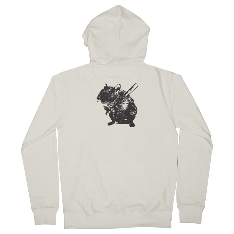 Angry Street Art Mouse Women's Zip-Up Hoody by Badbugs's Artist Shop
