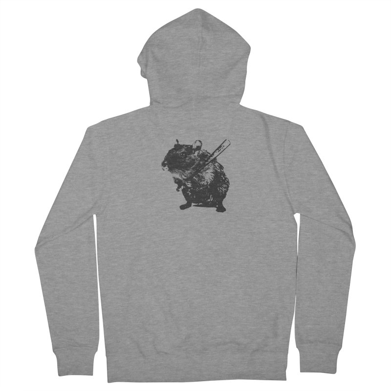 Angry Street Art Mouse Men's Zip-Up Hoody by Badbugs's Artist Shop