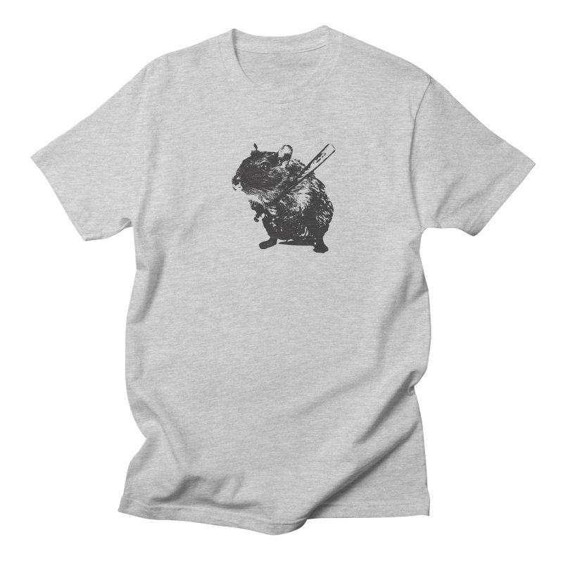 Angry Street Art Mouse Men's T-shirt by Badbugs's Artist Shop